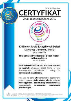 Znak Jakości KidZone 2017