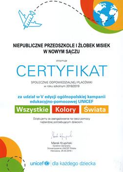 Certyfikat Społecznie Odpowiedzialne Placówki